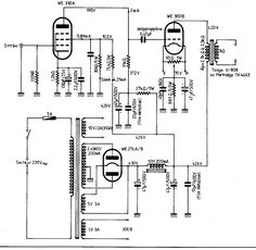 12AX7 / 12AU7 Tube Preamplifier Power Supply Schematic