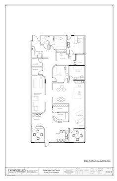 #Chiropractic Floor Plan Closed Adjusting plus Therapy