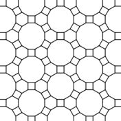 Geometric Tessellation with Square And Rectangle coloring
