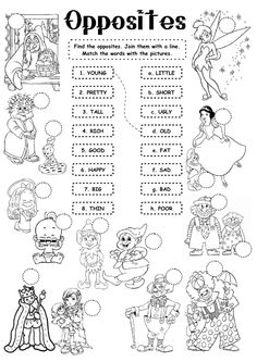 12 pages of FREE and fun Opposites Worksheets from