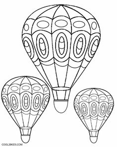 free printable coloring image Hot Air Balloon (5) (1