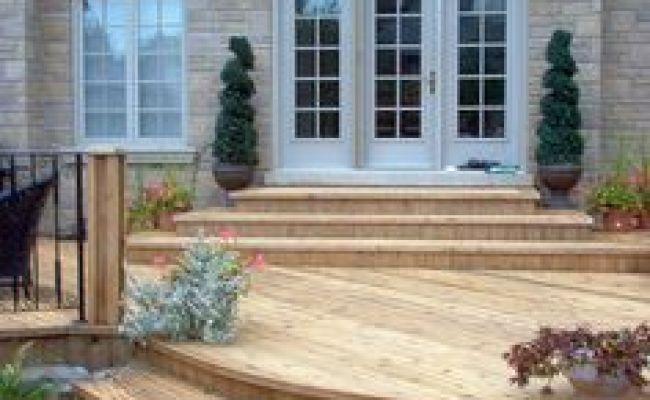 Possible Solution To Raised Back Door Backyard