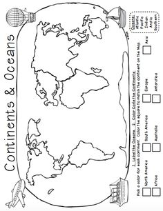 7 Continents Mini Book Black and White from Pioneer