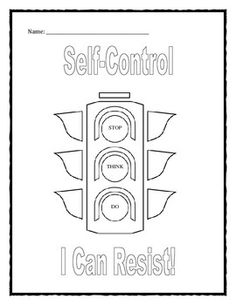 Impulse Control Activities Worksheets For Middle School