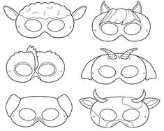 Printable Animal Masks: Pig Mask Printable Pig Mask