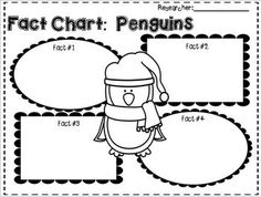 Penguin Story Map ~ Winter Theme ~ Snow ~ Snowflake
