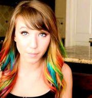 kalel's rainbow hair. hair &