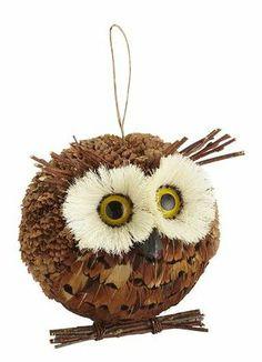 Sticks Owl Ornament Corn Husks Pine Cone Petals Twigs