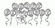 Happy Birthday Cousin coloring page for kids, holiday