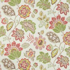 Malawi Khaki 21 95 Yard P Kaufmann Fabric Traditional Floral