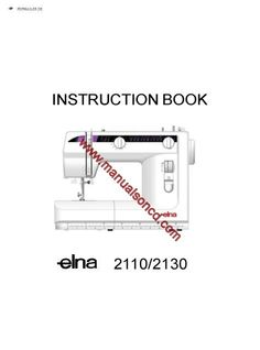 Kenmore Model 385.16528000 Sewing Machine Instruction