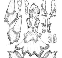 Paper dolls, Ponies and Dolls on Pinterest