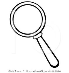Printable Magnifying Glass Template from PrintableTreats