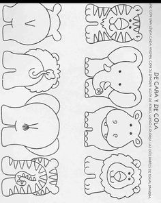 Free Template for Felt Woodland Creatures Pattern. Free