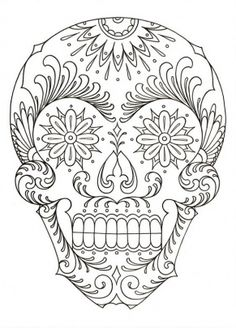 Halloween Skull: this free adult coloring page is perfect