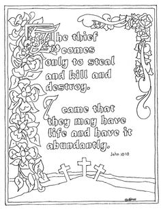 Coloring Pages for Kids by Mr. Adron: Proverbs 3:9-10