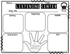 This retelling chart is perfect for the visual and tactile
