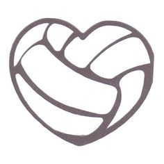 Printable Volleyball Stencil Volleyball SVG Here
