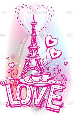 Girls Wallpaper Decals With Eifle Tower Plantilla De La Torre Eiffel Para Pintar Buscar Con