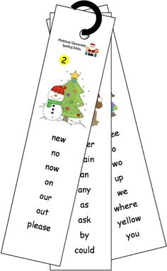 Great Dolch sight word sentence strips and flash cards for