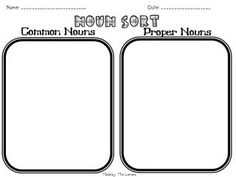 Common and proper nouns, Proper nouns and Matching games