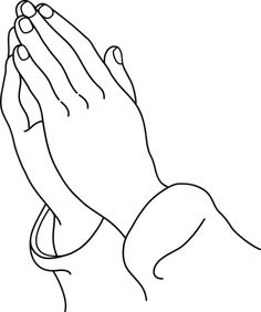 Praying Hands Prayer Religious Die Cut Vinyl Decal