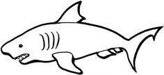 Free Cartoon Shark Clipart, Shark Outline and Shark