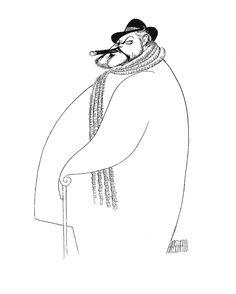 Cary Grant by illustrator Al Hirschfeld…he amazes me
