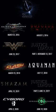 DC Comics Cinematic Universe timeline
