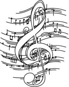Treble clef, Coloring pages and Music on Pinterest