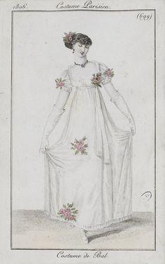 Note the short hair // Portrait of Pauline Bonaparte by