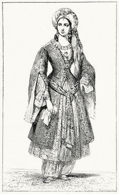 Florentine lady 13th century clothing. Medieval fashion in