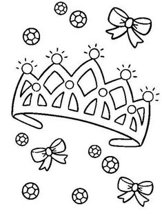 Coloring pages, Princess tiara and Search on Pinterest