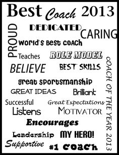 A printable certificate thanking a coach for his or her