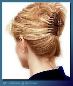 Put Your Hair Up With A Jaw Clip Hairstyles Twists And Simple