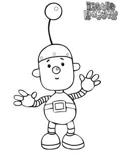 Coloring pages little robots