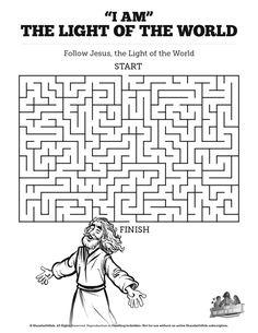 Luke 17 Ten lepers Bible Mazes: Can your kids lead the ten