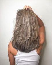 grey blending balayage highlighting