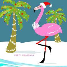 pink flamingo love