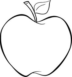 Apple Fruits coloring pages nice for kids, printable free
