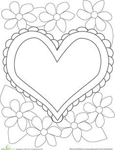 Free printable valentine heart balloons coloring pages for