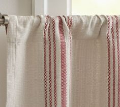 French Stripe Cafe Curtain Traditional Curtains Pottery Barn