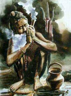 Shiva Smoking Chillum Hd Wallpaper भगवान शिव धूम्रपान चित्र मुक्त डाउनलोड Honey Pinterest