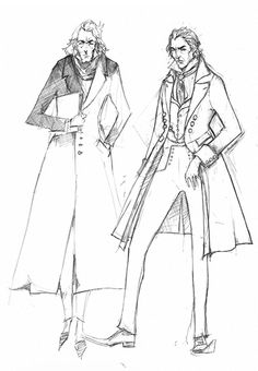 Sweeney Todd Costume Sketch. Colleen Atwood, designer