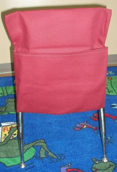diy classroom chair covers inexpensive living room chairs how to make a pocket, desk seat sack instructions customize it fit your | ...