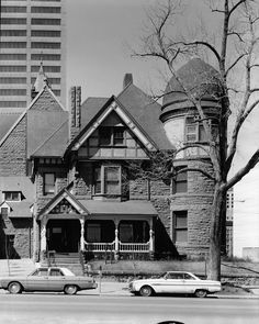 Exterior front corner view of the Victorian style residence of EFC Klokke at 2105 South