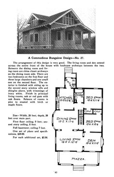 Sears Kit home from the 20's... check out the price! This