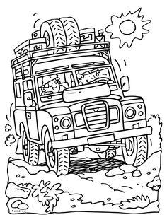 Kleurplaat Ingang van de camping ( pinksteren
