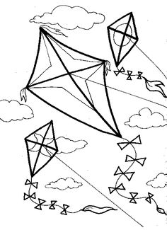 1000+ images about Kite Coloring Pages on Pinterest