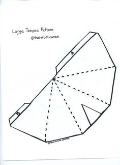 Teepee pattern. Use the printable outline for crafts